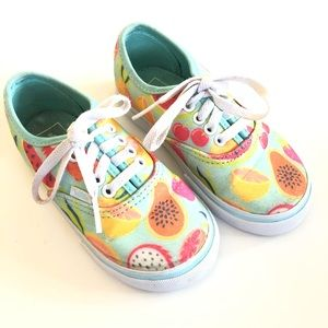 VANS Pink Glitter Fruits sneakers shoes Toddler 8